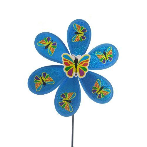 Pillangós szélforgó, több színben, 25 cm