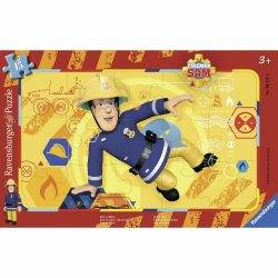 Ravensburger Sam, a tűzoltó - Sam akcióban - 15 db-os keretes puzzle