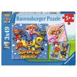 Ravensburger Mancs őrjárat Super kutyi hősök 3 x 49 darabos puzzle