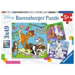 Ravensburger Disney barátok 3 az 1-ben, Bambi, Macskarisztokraták, 101 Kiskutya