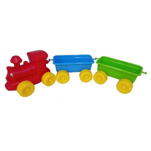 Homokozó vonat hálóban