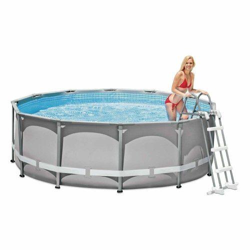 INTEX Biztonsági medence létra 4 fokos 132cm magas medencékhez