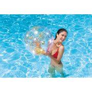 Átlátszó csillogó strandlabda