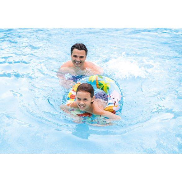 Mintás átlátszó úszógumi 61 cm