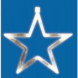 LED-es ablakdísz, csillag, 19cm, 4,5V KID 411