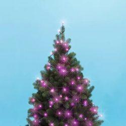 LED-es beltéri fényfűzér, pink, 50 LED KII 50/P
