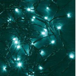 LED-es beltéri fényfűzér, türkiz, 50 LED KII 50/T