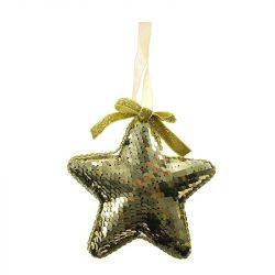 Csillag flitteres hungarocell 12 cm