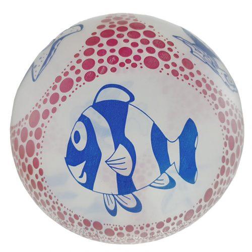 Átlátszó halacskás labda