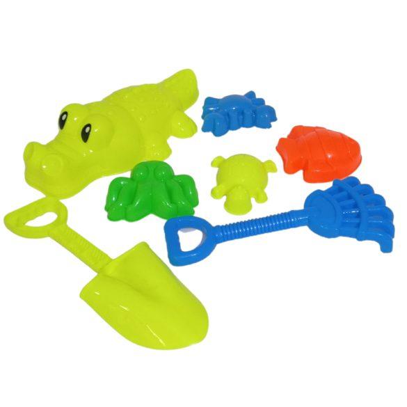 Krokodil homokozó hálóban