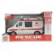 Hangot adó mentőautó