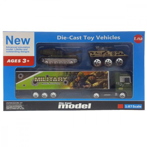 Katonai  kamion + autók