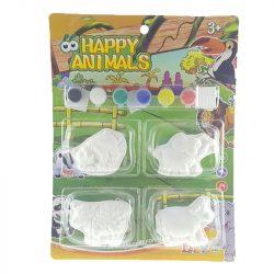 Gipsz kifestő állatos