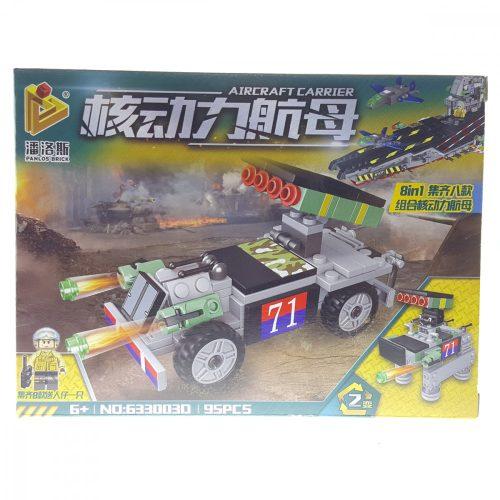 Panlos Brick Hadi járművek Építőjáték