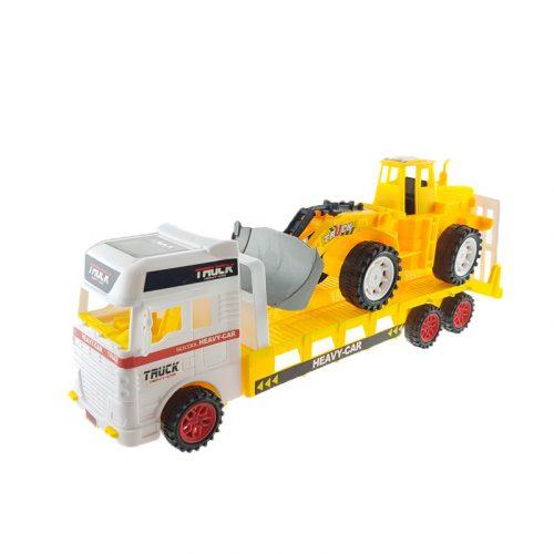 Munkagépszállító kamion