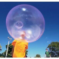 Felfújható bubble ball labda kézi pumpával