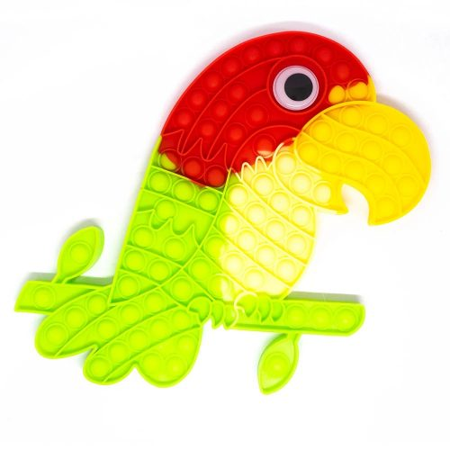 Papagáj közepes Pop It stresszoldó játék 32 x 22 cm