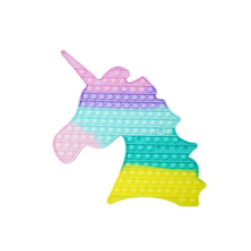 Unikornis közepes Pop It stresszoldó játék 35 x 35 cm