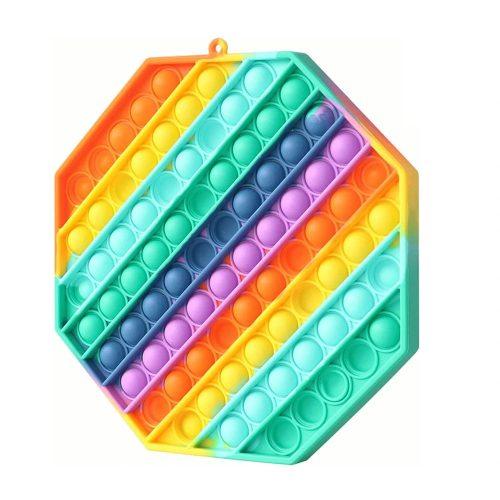 Óriás nyolszög alakú szivárvány stresszoldó játék 30 X 30 cm