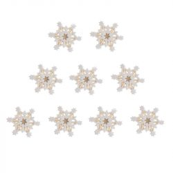 Ragasztós hópehely 2,8x0,4x2,8cm fehér